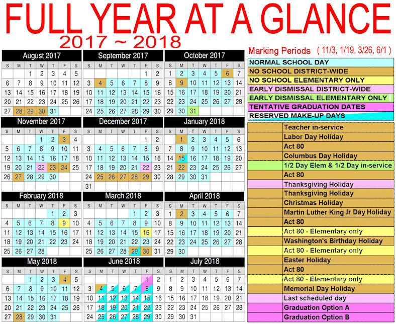 detailed calendar